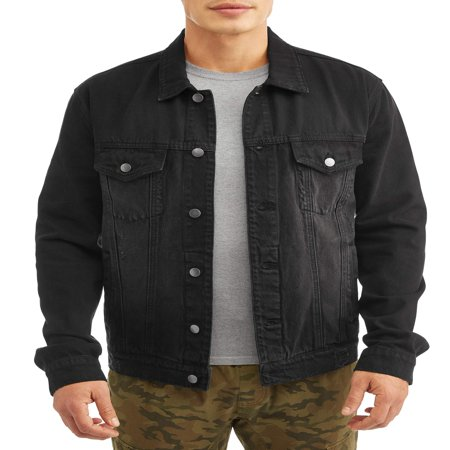 Men's Denim Jacket, Up to Size 3XL (Black Transition Tall Jackets)
