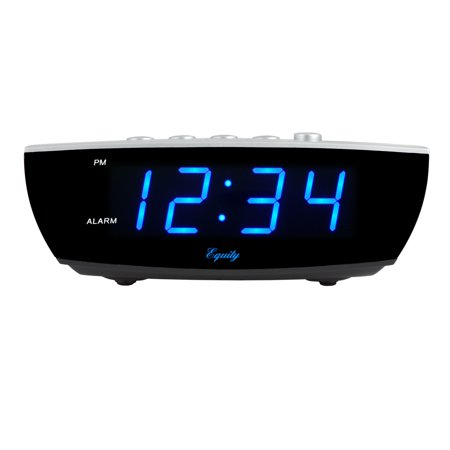 "Equity by La Crosse 75903 0.9"" Blue LED Digital Desktop Alarm Clock"