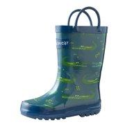 2e253507fc7d2 Oakiwear Kids Rain Boots For Boys Girls Toddlers Children, Crocodiles
