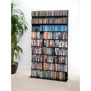 "Atlantic 71"" Elite Media Tower Storage Shelf, Large (528 DVDs, 837 CDs, 624 Blu-rays)"