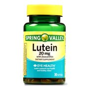 Spring Valley Lutein with Zeaxanthin Softgels, 20 mg, 30 Ct