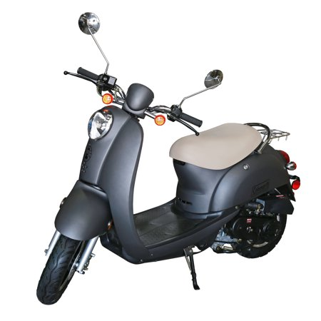 Coleman Powersports 49cc Gas Powered Scooter Moped Gray Walmart Com