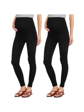 Maternity Full Panel Leggings, 2-Pack Value Bundle
