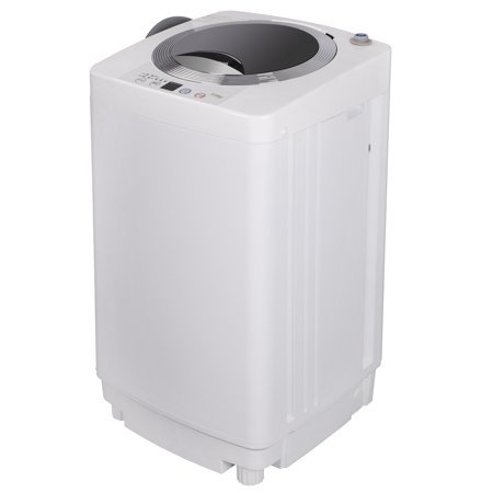 Zeny Portable Full-Automatic Washing Machine 1.6 Cu. ft. Spacious Load 2in1 Washer&Spinner w/Drain Pump and Long