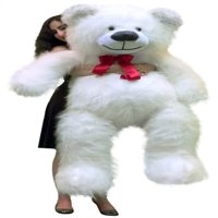 American Made 5 Foot Giant White Teddy Bear 60 Inch Soft Made in USA