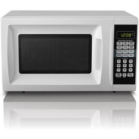 Hamilton Beach 0.7 Cu. Ft. White Microwave Oven (Best Countertop Microwave With Trim Kit)