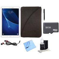 Samsung Galaxy Tab A 16GB High-Resolution 10.1-inch Tablet with 32GB MicroSDHC Memory Card & Accessories Bundle