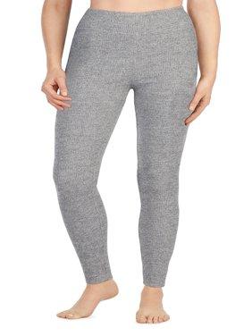 Women's Long Sleeve Brushed Sweater Knit Warm Underwear legging