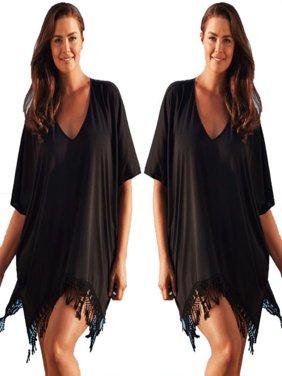Women Plus Size Swimwear Beachwear Bikini Beach Swimsuit Cover Up Kaftan Ladies Summer Dress