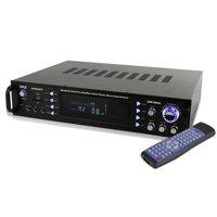 Pyle P2203ABTU - Bluetooth Hybrid Pre-Amplifier, Home Theater Stereo Amp Receiver, USB/SD/MP3/AUX/AM/FM, 2000 Watt