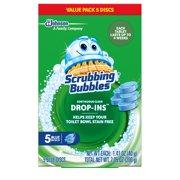 Scrubbing Bubbles Continuous Clean Drop-Ins, Blue Discs, 5 count, 7.05 Ounces