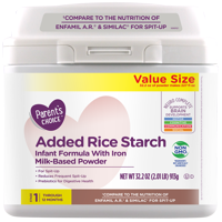 Parent's Choice Added Rice Starch Infant Formula with Iron, Value Size, 32.2 oz