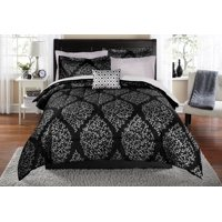 Mainstays Leaf Damask Bed in a Bag Coordinating Bedding Set - Twin/Twin XL