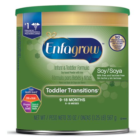 Enfagrow Toddler Transitions Soy Lactose Free Infant And