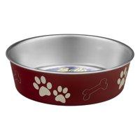 Loving Pets Bella Bowls Medium Merlot, 1.0 CT