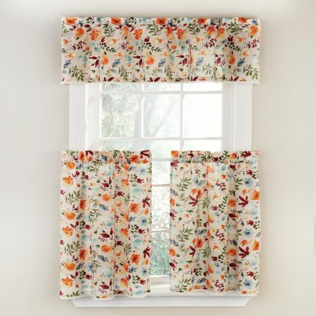The Pioneer Woman Willow 3pc Kitchen Curtain And Valance Set