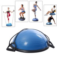 Zimtwon Yoga Balance Ball Trainer Fitness Strength Exercise Workout with Pump for Stability Training Practice