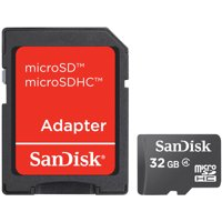 SanDisk microSDHC Card with Adapter SDSDQM-032G-B35A
