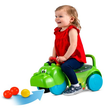 Hasbro Hungry Hungry Hippos 3 in 1 Scoot and Ride On Toy by Kid Trax, Toddler - 1 Year Old Outdoor Toys