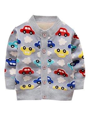 OUMY Kids Baby Boy Girl Sweater Long Sleeve Outwear 1-3T