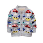 Babula Kids Baby Boy Girl Sweater Knitted Cardigan Outwear 1-3T aa79f54bb