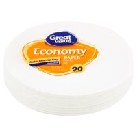 """Great Value Economy Paper Lunch Plates, 9"""", 90 Count"""
