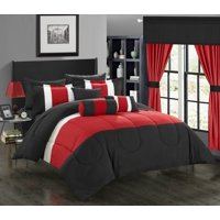 Chic Home 20-Piece Whitehall Bed In a Bag Comforter Set Queen, Red
