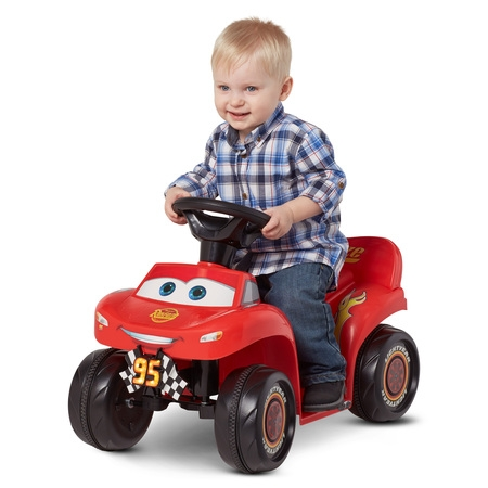 6V Cars 3 Lightning McQueen Quad, Red (Styles May (Jaybrake Quad)
