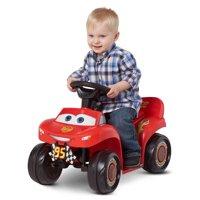 6V Cars 3 Lightning McQueen Quad, Red (Styles May Vary)
