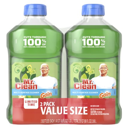 Mr. Clean with Gain Original Scent Multi-Surface Cleaner, 2 Pack, total 90 fl oz