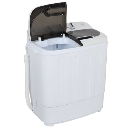 ZENY Mini Twin Tub Portable Compact Washing Machine Washer Spin Dry Cycle- 13lbs Capacity
