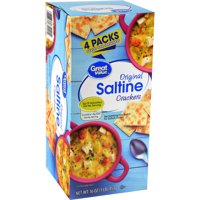 (3 Pack) Great Value Original Saltine Crackers, 16 oz, 4 Count