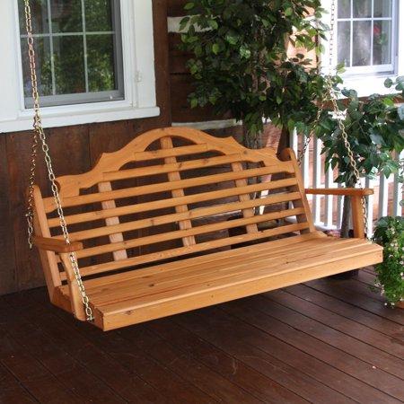 A & L Furniture Marlboro Western Red Cedar Porch Swing ()