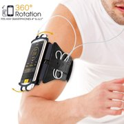 360° Rotatable Sports Armband, Sweatproof Cellphone Holder Case Arm Band Strap Pouch w/