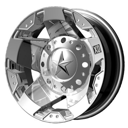 KMC-XD Wheels XD77566087294N XDWXD77566087294N KMC XD SERIES 16X6 775 ROCKSTAR DUALLY CHROME REAR 8X170 bp b/s -134 - Kmc Chrome Wheels