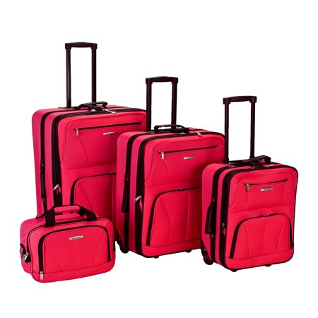 Rockland Luggage Journey 4 Piece Softside Expandable Luggage Set - 29 Expandable Luggage