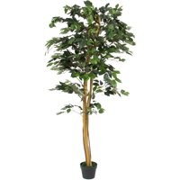 Best Choice Products 6ft Indoor/Outdoor Decorative Artificial Tree Ficus Plant w/ 1,008 Leaves, Stabilizing Pot for Living Room, Bedroom, Home Decor - Green