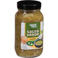 (3 Pack) Great Value Cantina Salsa Verde, 24 oz