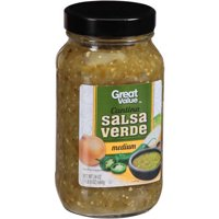 (3 Pack) Great Value Cantina Salsa Verde, 24 oz