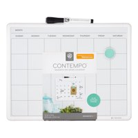 U Brands Contempo Magnetic Monthly Calendar Dry Erase Board, 11 x 14 Inches, White Frame