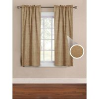 Mainstays Solid Room Darkening Embossed Woven Window Curtain