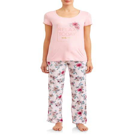 Women's and Women's Plus Short, Pant, and Sleep Top (3-Piece Set)