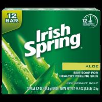 Irish Spring Aloe Vera Bar Soap, 3.7 Ounce, 12 Bar Pack