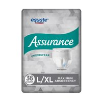 Assurance Underwear, Men's, Size L/XL, 36 Count