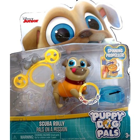 Puppy Dog Pals Light Up Pals On A Mission - Rolly with Scuba and Helmet](Puppy Up)