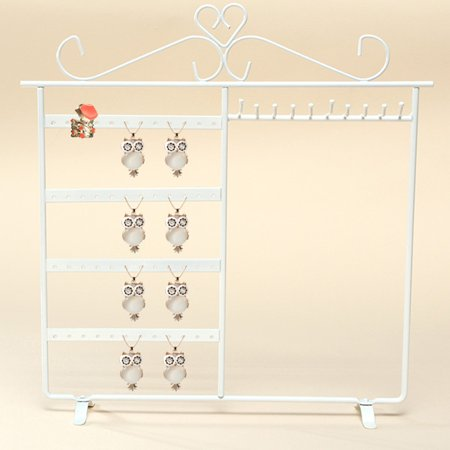 Asewin Earring Holder Jewelry Organizer Necklace Hanger Wall Stand Rack Metallic Jewelry Rack Black typical Display](Earring Hanger)