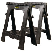 Stanley 060864R Plastic Folding Sawhorse (2-Pack)
