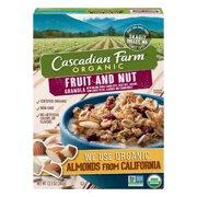 (2 Pack) Cascadian Farm Organic Fruit and Nut Granola, 13.5 oz