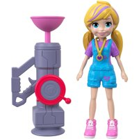 Polly Pocket Active Pose Zip 'n' Blast Zipline Adventure Polly Doll