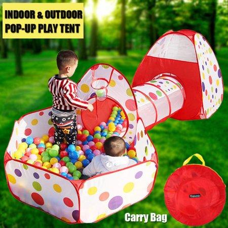 Kids Play Tent with Tunnel and Ball Pit Glonova 3 in 1 Child Baby Playhouse  sc 1 st  Walmart & Kidsu0027 Igloo Tent u0026 Tunnel